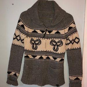 XS/small TNA Aritzia knit zip up sweater